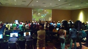 At Gen Con 2014 there was always a line for our League of Legends 5v5 Random events putting 10 strangers on two teams head-to-head.