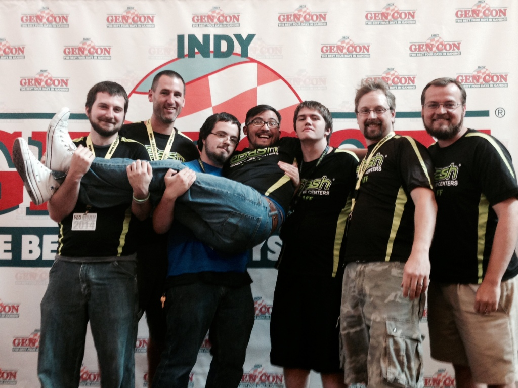 Our main eBash team at Gen Con 2014