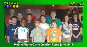 Students for our camps range in age from 8-16 depending on the course material.  This group built their own mobile games during their week at camp!