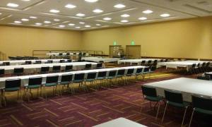 Here is how our rooms usually look right before we load everything into them and fill them with players shortly after.
