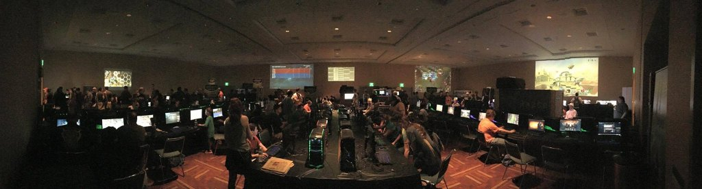 The 6000 square foot eBash Game Zon at Gen Con 2015.
