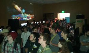 You can see why they were concerned with our room capacity limits. Most of the time players could hardly find their way to sit down.