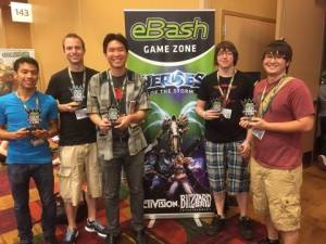 All of our events had trophies for first place teams. Here is the top team from one of our Heroes of the Storm tournaments.
